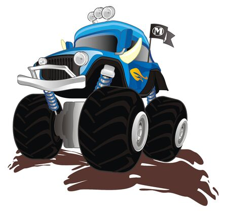 bigfoot truck and mud 写真素材