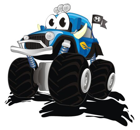 funny bigfoot truck in mud 写真素材