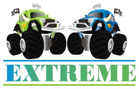extreme and monster trucks