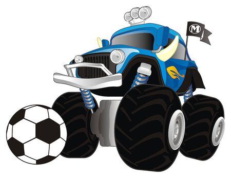 monster truck and soccer