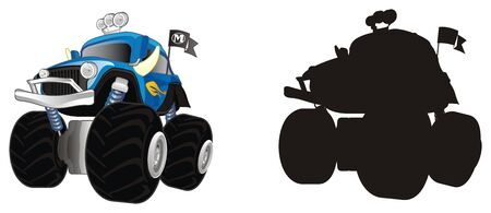monster truck and his shadow