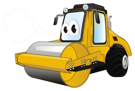funny road roller think