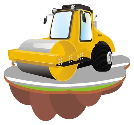 road roller stand