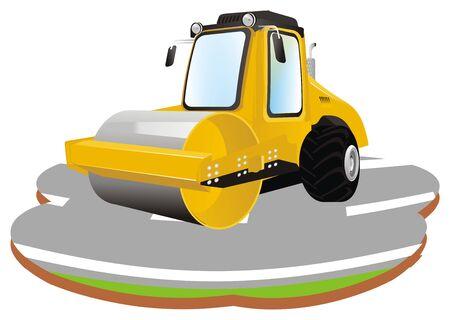 road roller and asphalt 写真素材