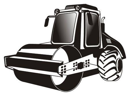 black and white road roller Stock fotó