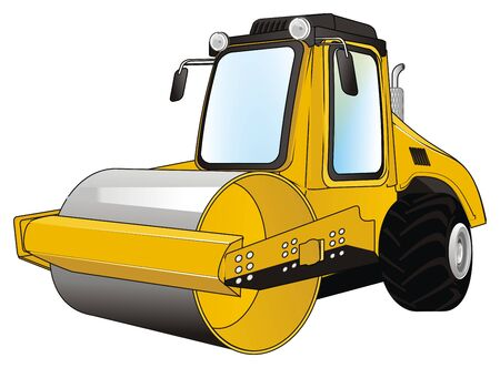 yellow and black road roller