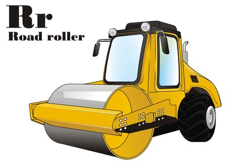 road roller and abc Stock fotó