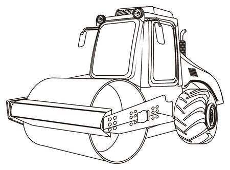 coloring road roller