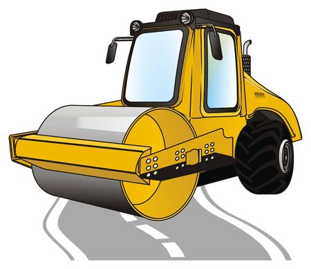 road roller and road Stock fotó