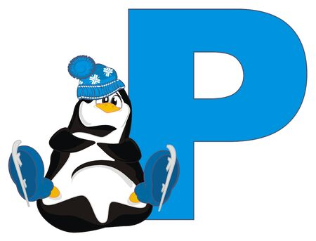 penguin and letter p