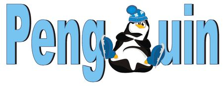 penguin and large letters
