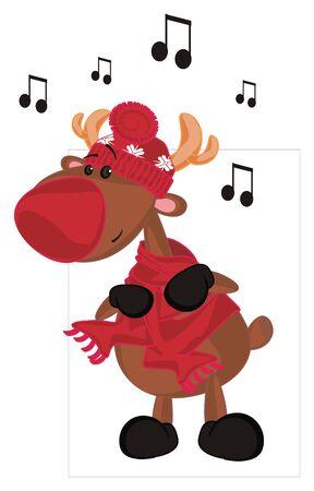 deer stand and sing Reklamní fotografie - 132247742