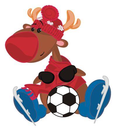 deer and soccer Stockfoto