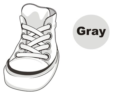 gumshoes is gray Stock Photo