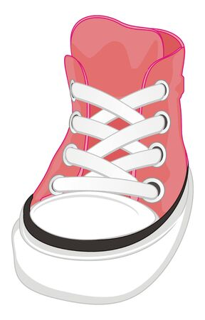 one pink gumshoes Stock Photo