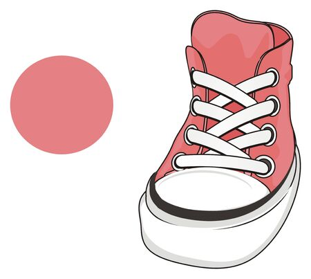 pin gumshoes and pink sign Stock Photo