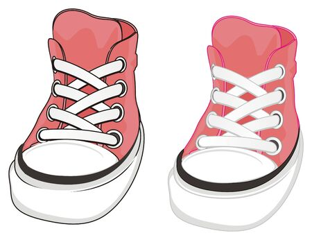 pair of pink gumshoes