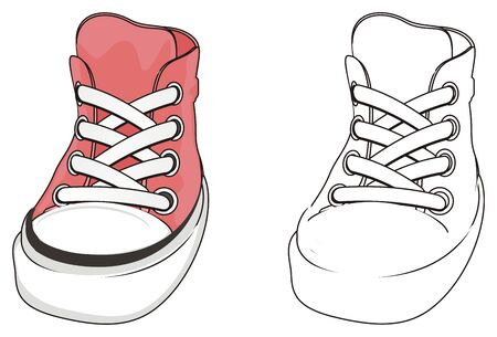 pink and coloring gumshoes
