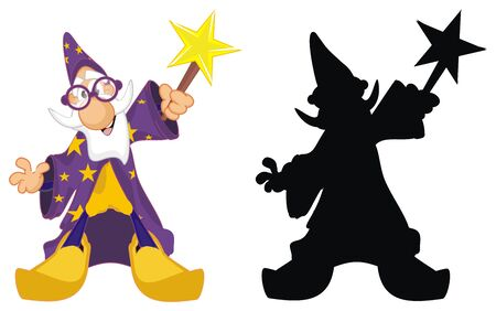 colored and solid black wizards