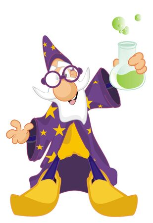 wizard with flask