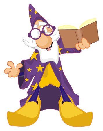 wizard hold a book Фото со стока