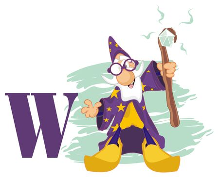 wizard and one letter w