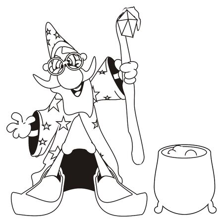 coloring wizard and magic