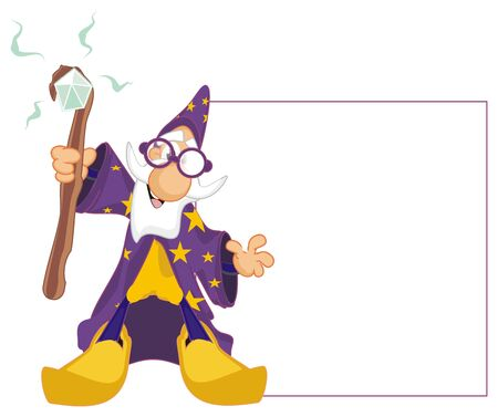 wizard and clean white paper