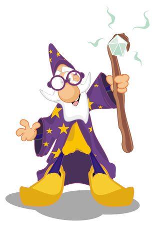 wizard and magic Фото со стока