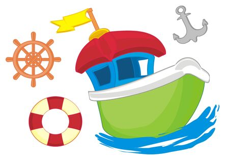 boat and tools