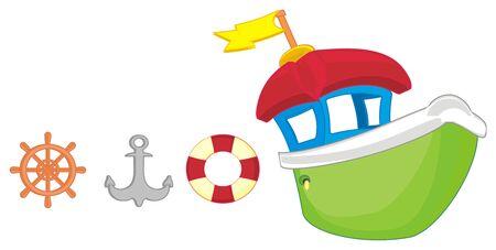ship and tools Stockfoto