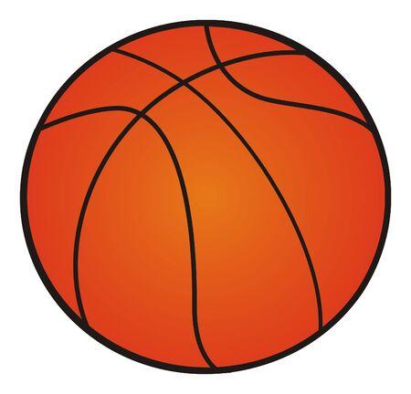 one orange ball 版權商用圖片