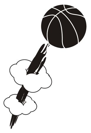 ball and smoke Foto de archivo - 135382612