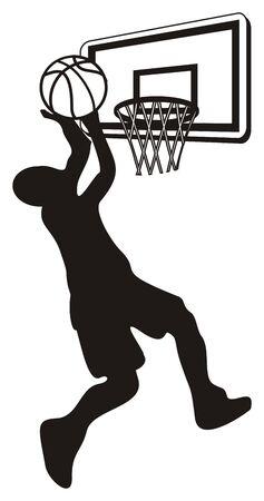 basket and player Foto de archivo - 135382631