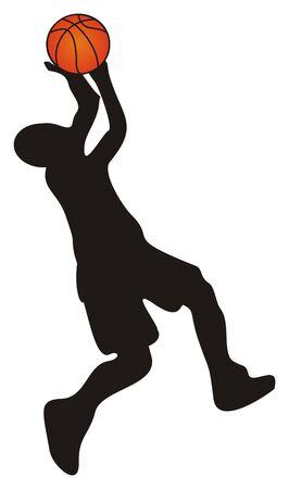 shadow of player of basket ball Foto de archivo - 135382672