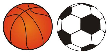 soccer and basketball 版權商用圖片