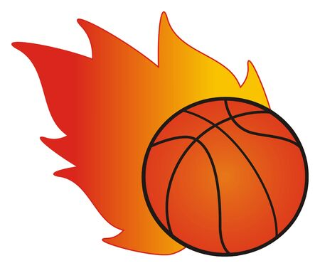 ball and flame 版權商用圖片