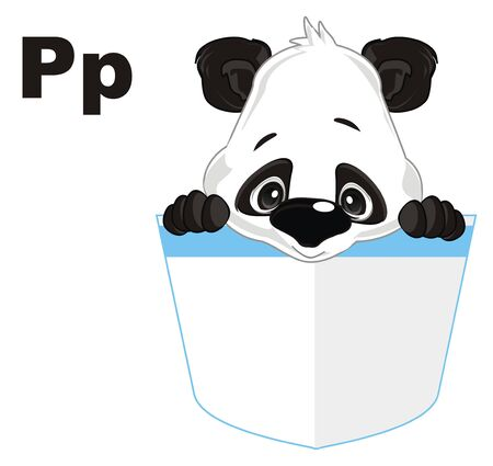 panda and letters p
