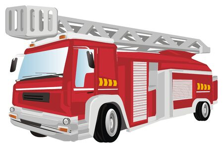 red fire truck Stock Photo