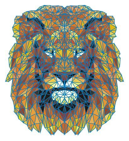 3d face of lion