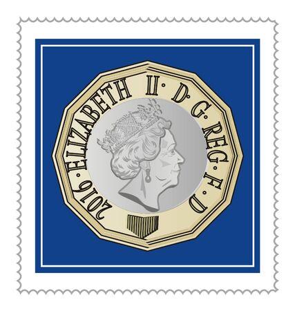post mark of queen Elizabeth II Stockfoto
