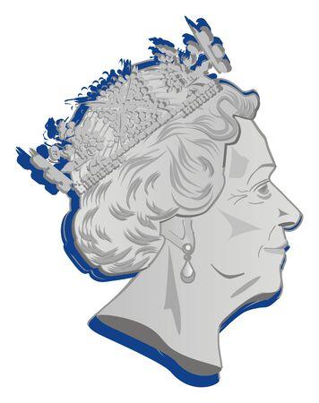 face of queen Elizabeth II
