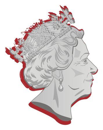 shadow of queen Elizabeth II Stockfoto