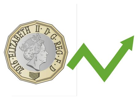 pound is up Stockfoto
