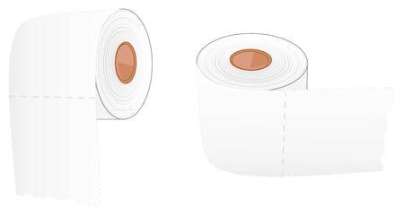 pair of white toilet papers Stockfoto