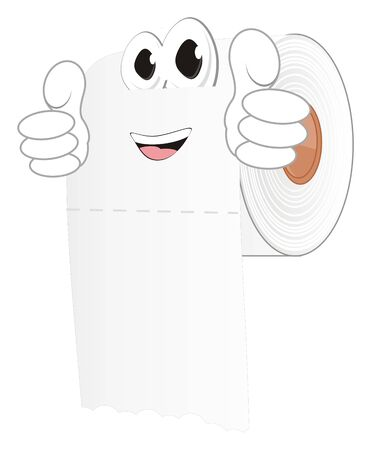 funny white toilet paper with gesture