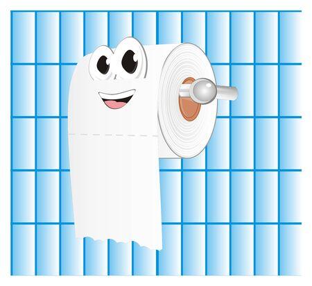 smiling white toilet paper