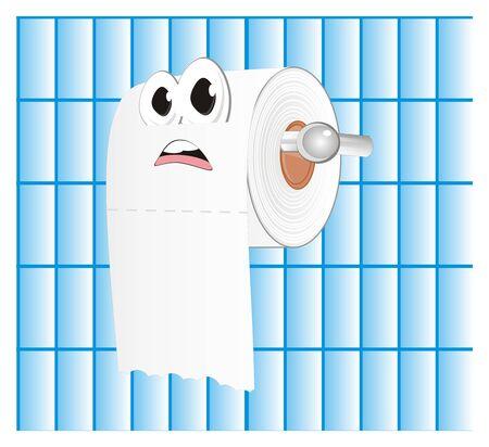 unhappy white toilet paper
