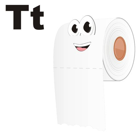 funny white toilet paper and letters t
