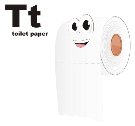 funny white toilet paper and abc